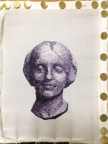 "papermoon ~日本刺繍 Japanese Embroidery~ Charles Bargue""Drawing Course""より JEVNE FEMME"