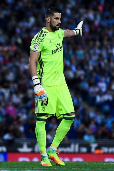 Kiko Casilla Photos Photos - Kiko Casilla of Real Madrid CF reacts during the La Liga match between RCD Espanyol and Real Madrid CF at the RCDE stadium on September 18, 2016 in Barcelona, Spain. - RCD Espanyol v Real Madrid CF - La Liga