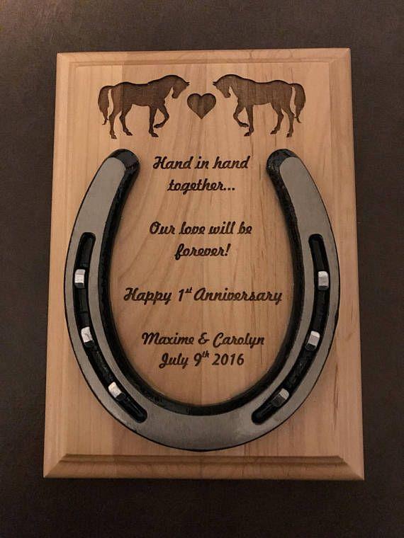 engraved horseshoe personalized wedding