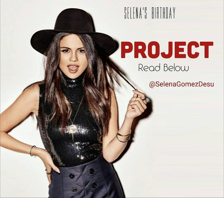 """@Regrann from @selenagomezdesu -  ATTENTION! : Selena's birthday is coming and so I thought we could do a lil easy cute project. Here's all you need to know to join it: . -Write on a paper or wherever you want to the next line: """"Happy Birthday Selena"""" AND the number """"25"""" (Please do not forget the number since it's a crucial part of the project). . -Take a picture of you with the paper (or it alone). . -DM me (@SELENAGOMEZDESU) the picture and I will include it on the collages and video edits…"""