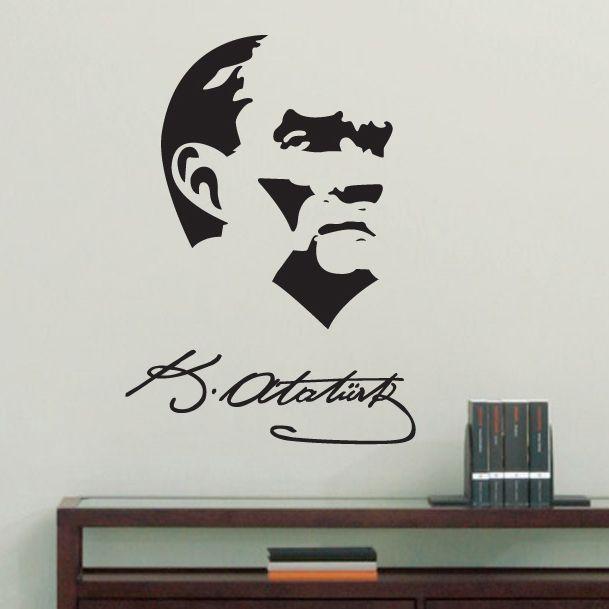 Atatürk İmza Duvar Sticker :: DEVesnaf