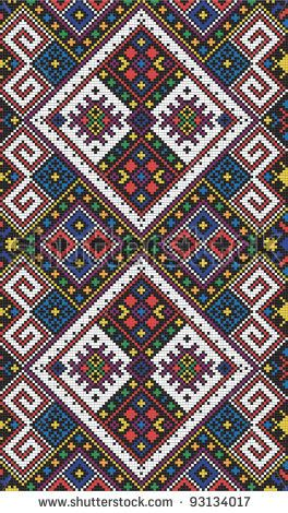 Seamless pattern of national ukrainian ornament, vector