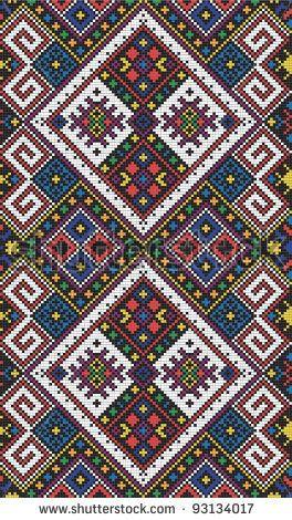 Seamless pattern of national ukrainian ornament, vector