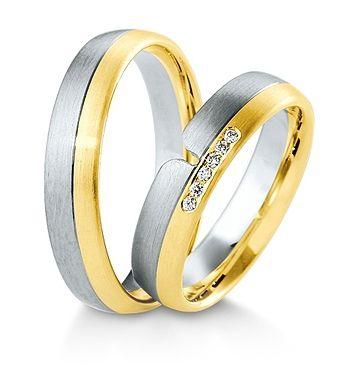 Breuning Trouwringen | Inspiration collectie gouden ringen | 5mm 6 briljant samen 0.06ct verkrijgbaar in 8,14 en 18 karaat | 48041590 / 48041600 OOK in wit geel en rood goud verkrijgbaar of in 2 kleuren goud #trouwringen #breuning