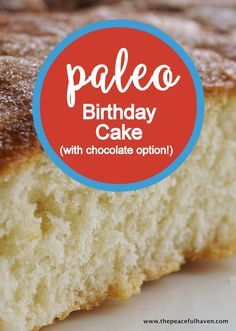 Yes!  A PALEO Birthday cake that actually looks and tastes GREAT!!!  Recipe has…