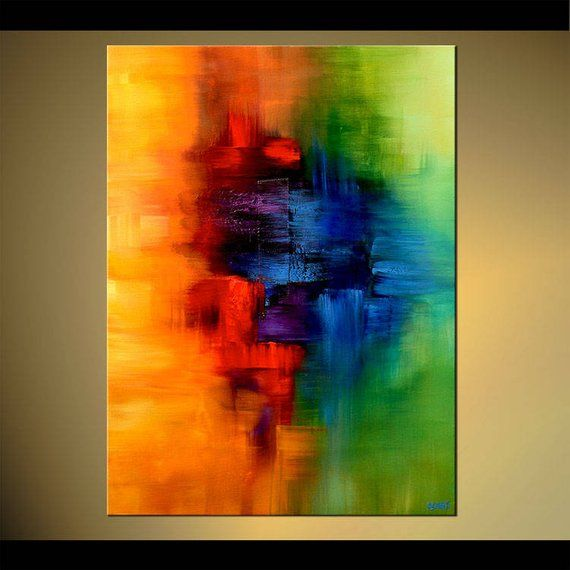 Canvas Art, Modern Wall Art, Stretched, Embellished & Ready-to-Hang Print – Childhood Memory – Art by Osnat