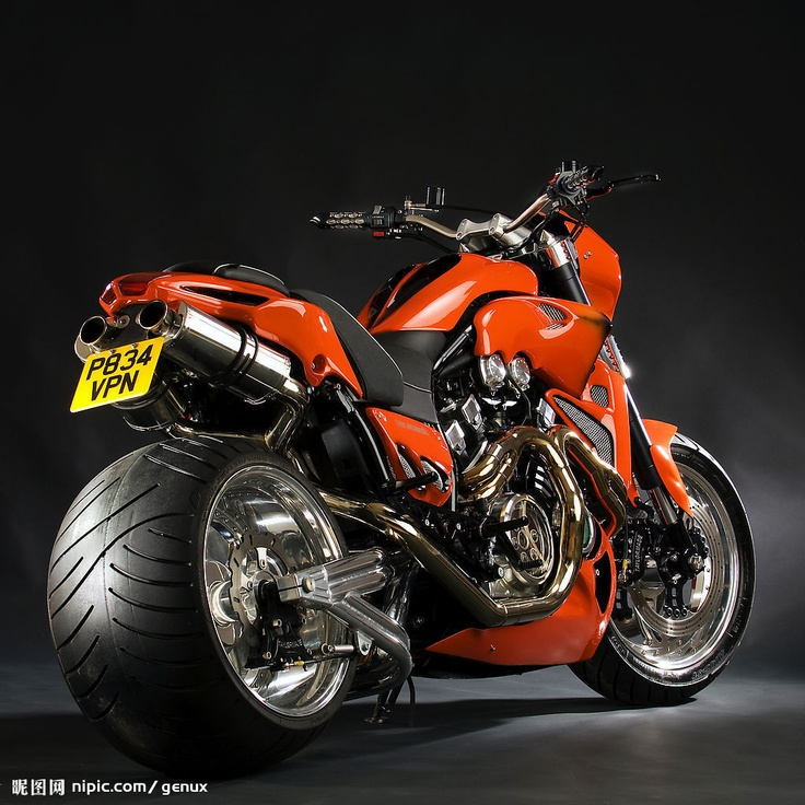 Orange Crush. Yamaha V Max by Adam Duckworth.