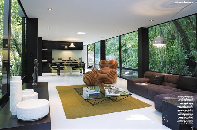Designer Chris Tate's Forest House at Titirangi, a suburb of Auckland in New Zealand.