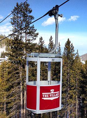 Cutest ever Village Cabriolet lift at Winter Park Resort. #VisitGrandCounty