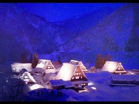 [4K ]Snow scene 冬景色の白川郷・五箇山の世界遺産の雪景色 Shirakawa-go and Gokayama ( UNESCO World Heritage ) - YouTube