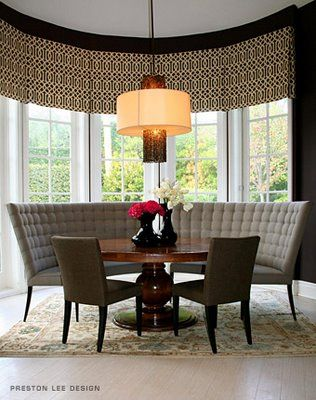 Flat Valance For Bay Window · Dining RoomsBanquette ...