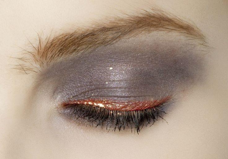 Copper Glitter Liner + Dark Plum Smokey Shadow - So Unusual & Pretty