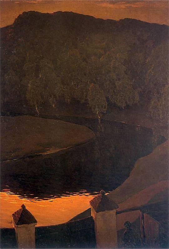 Evening Wilejka  -    Ferdynand Ruszczyc.   Polish  1870 - 1936