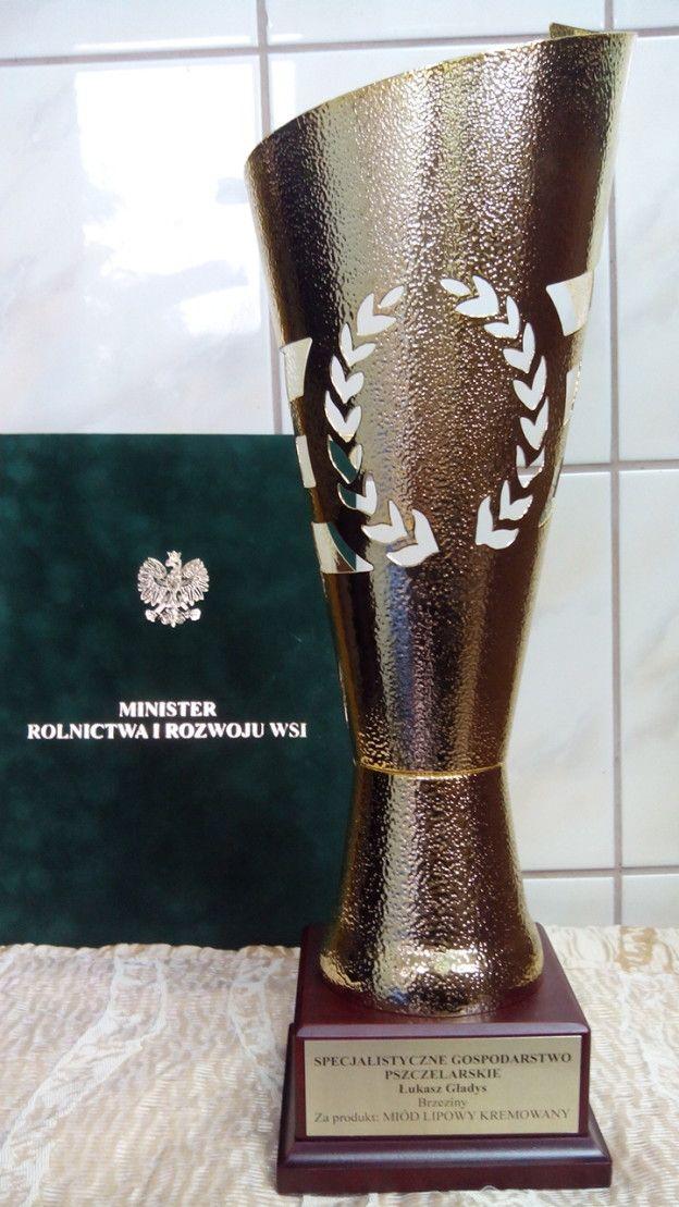 """Nagroda """"Polski Producent Żywności 2014"""" za Nasz Miód lipowy kremowany"""