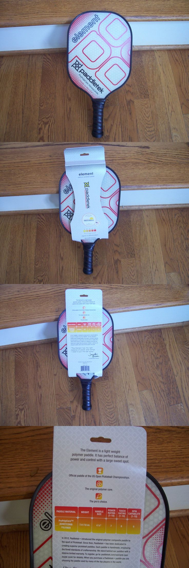 Other Tennis and Racquet Sports 159135: Paddletek Element Pickleball Paddle-Red -> BUY IT NOW ONLY: $69.99 on eBay!
