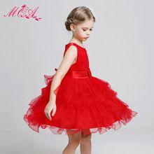 Vestido vermelho da menina de verão vestidos de meninas infantil vestido de casamento europeu princesa do bebê meninas vestidos vestido de dama de honra traje criança NQ181(China (Mainland))