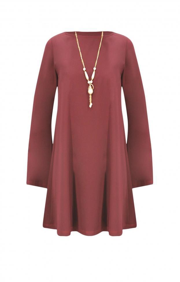 Γυναικείο φόρεμα με κολιέ | Φορέματα - Φορέματα 2016 - Γυναίκα |