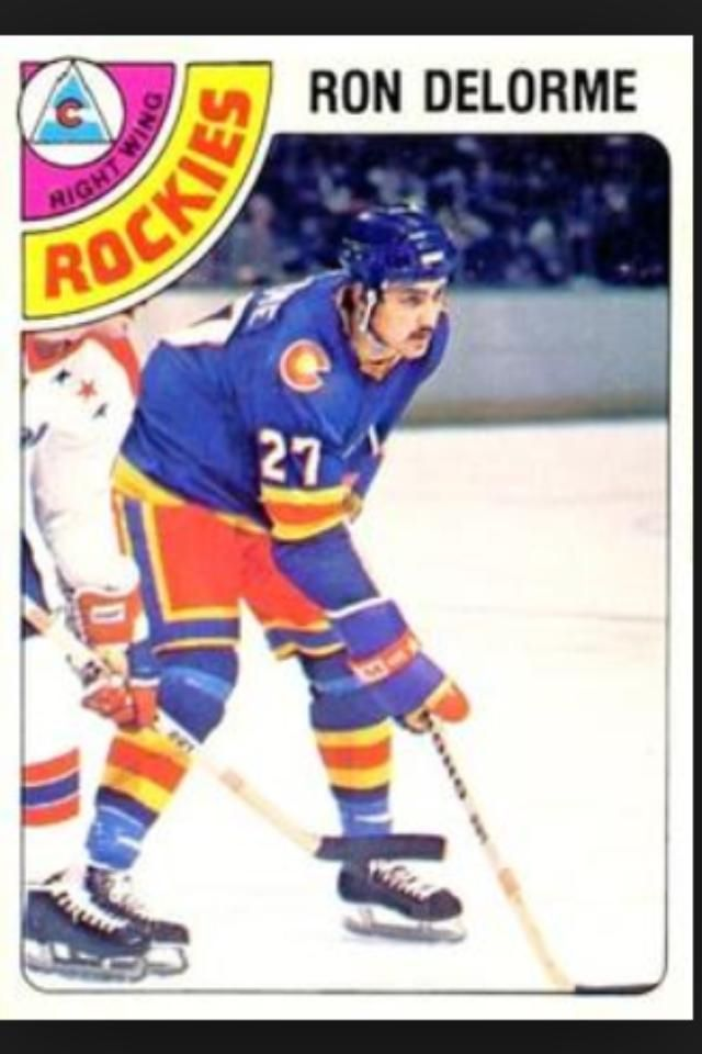 Ron Delorme hockey card