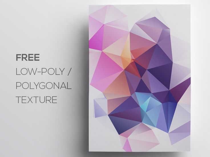 Free Polygonal / Low Poly Background Texture #75