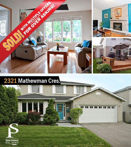 SOLD with MULTIPLE OFFERS OVER ASKING! . -------------------------------- Buying or Selling? Contact Steve or Shelly: 905-616-2935 / www.stevepacheco.com