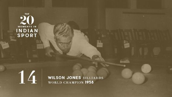 14: Wilson Jones is billiards world champion - In 1958, the cueist became the first Indian world champion in any sport since the country's independence. Source: The Hindu Archives     www.piclectica.com #piclectica