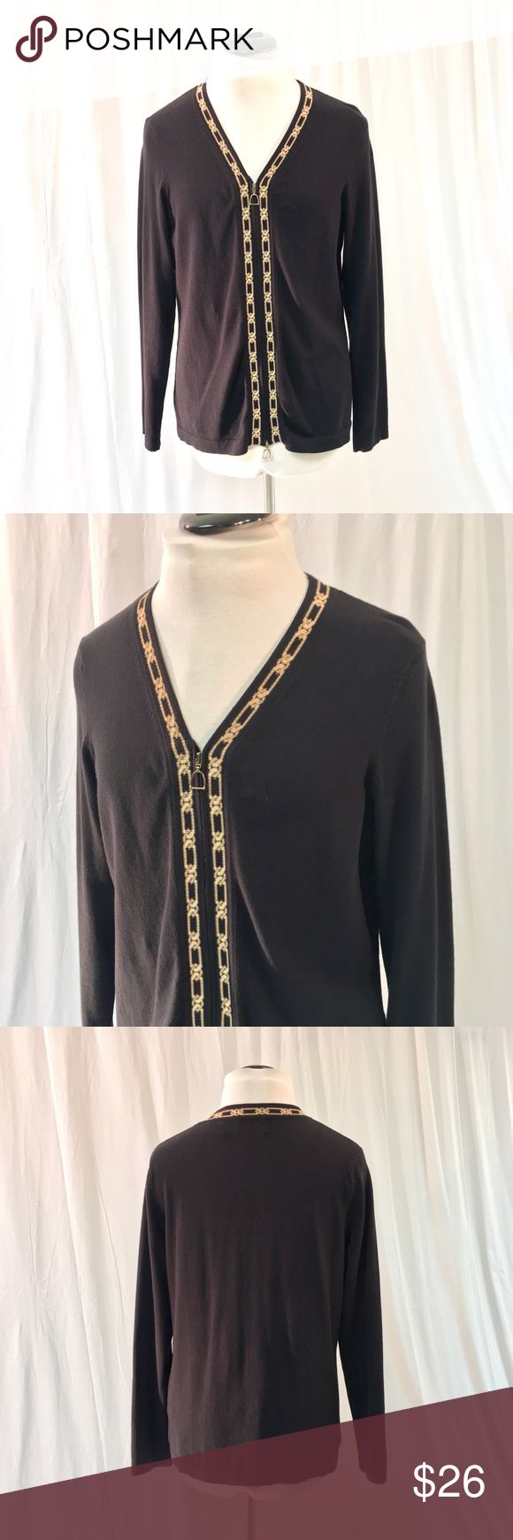 EP Pro Black & Gold Zip Sweater Super soft zip up sweater by EP Pro! Very good condition, women's size medium. EP Pro Sweaters