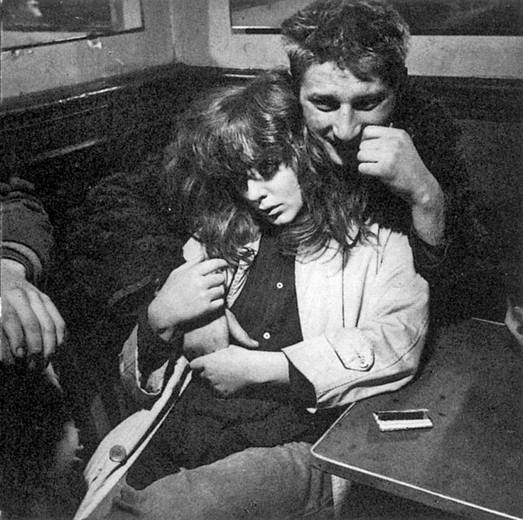 Dutch photographer Ed van der Elsken was part of the scene in Paris at the time, and in 1956, he published a ground-breaking photobook called Love on the Left Bank. His gritty, sexy, black-and-white photos of bohemian life in Paris captured a reckless, carefree, decadent and hedonistic love for life. A fictional text and captions (corny, for sure), accompanied the photos in the book.