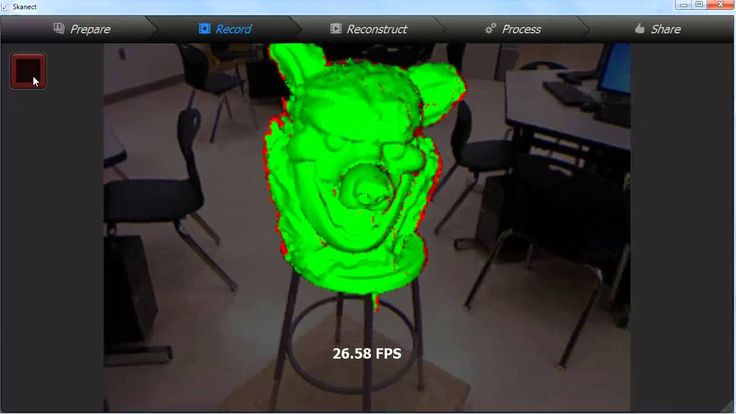 3D scanning with Skanect