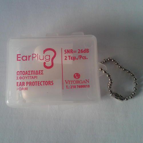 Vitorgan EarPlug Ωτοασπίδες Σφουγγάρι 2τεμ. Μάθετε περισσότερα ΕΔΩ: https://www.pharm24.gr/index.php?main_page=product_info&products_id=8392