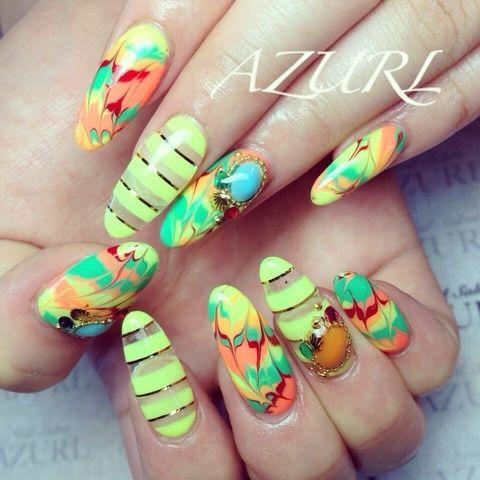 ネオンPOPネイル の画像|AYAKO♡Nail Salon AZURL(アズール)〜岩手県奥州市〜人気ネイルサロン