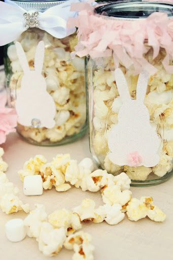 27 best easter popcorn images on pinterest easter bunny easter diy easter bunny mason jars edible easter party favors homemade holiday treats for kids negle Gallery