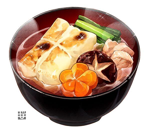 こんがりお餅の「お雑煮」絵/もみじ真魚