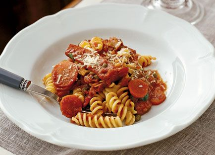 Neil Perry: Fusilli with squid and tomato