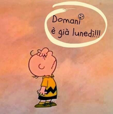 Learning Italian - Tomorrow is already Monday!