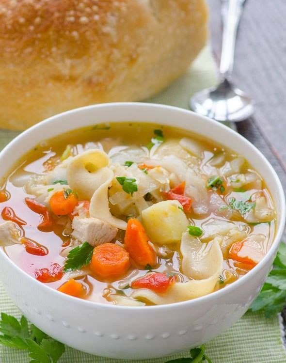 Recipes 17 |   Chicken Vegetable Soup