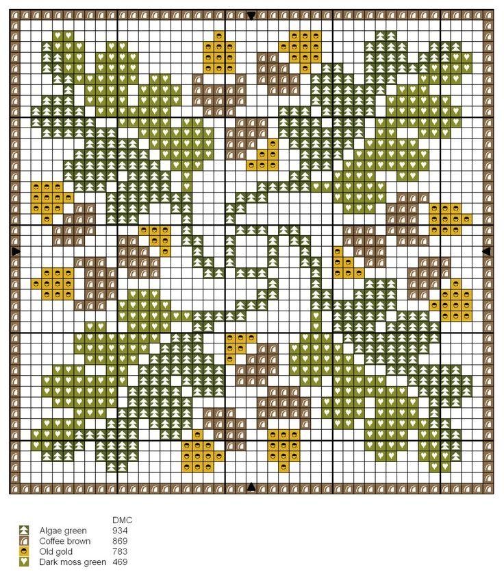 Biscornu Fall Season chart