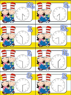 Free!! Dr. Seuss What Time Is It?  Matching fun!!!