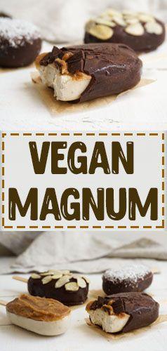 Gesunde Alternative zu Magnum Eis. Vegan, ohne Milch, ohne Ei, milchfrei, eifrei, glutenfrei, laktosefrei. Geeignet bei einer Nahrungsmittelunverträglichkeit oder Lebensmittelunverträglichkeit wie Laktoseintoleranz, Milchunverträglichkeit oder Milchallergie, Glutenunverträglichkeit oder Zöliakie.
