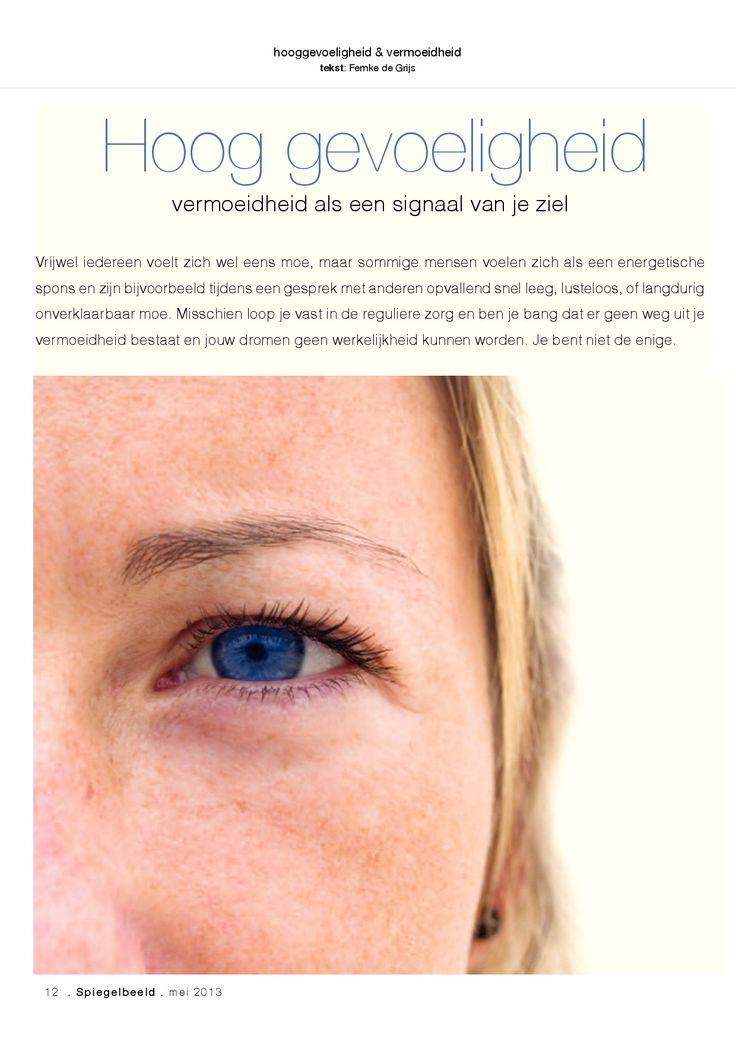 Spiegelbeeld magazine, hooggevoeligheid en vermoeidheid, Femke de Grijs, blz. 1