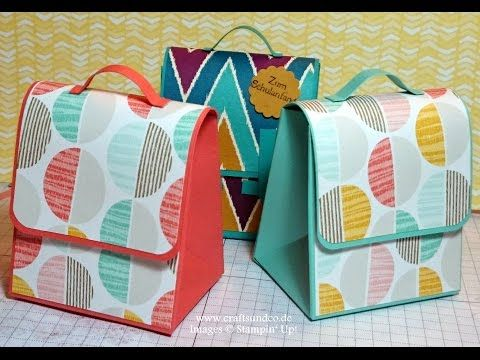 Schoolbag using the Giftbag punch board - YouTube