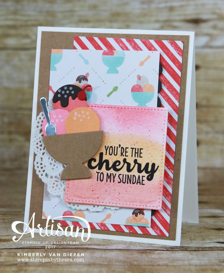 If you love ice cream, you will love the stamp set Cool Treats from Stampin' Up!. This suite of products is perfect for spring crafting projects.