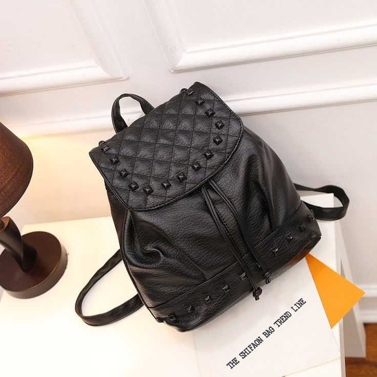 Preppy Fashion Style High-Quality Roomy Leather Women's Backpack 3 Colors
