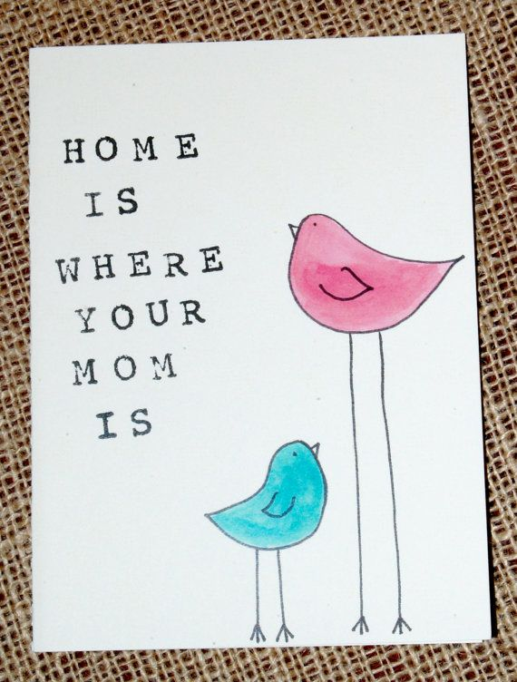 mothers day card. card for mom. bird card. by PaperPlainDesignCo, $3.50