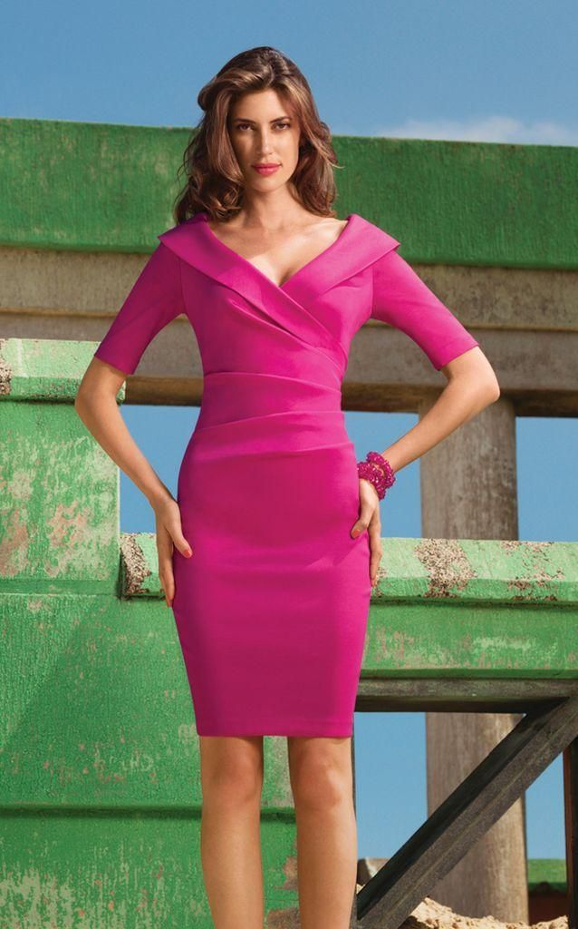 Joseph Ribkoff Fuchsia Cocktail Dress @£198