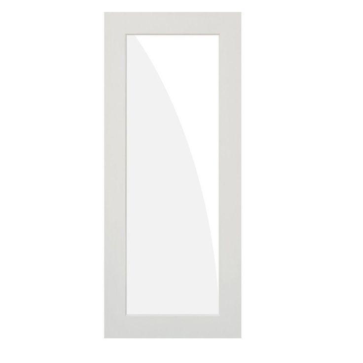 Krosswood Doors 28 In X 80 In 1 Lite Satin Etch Solid