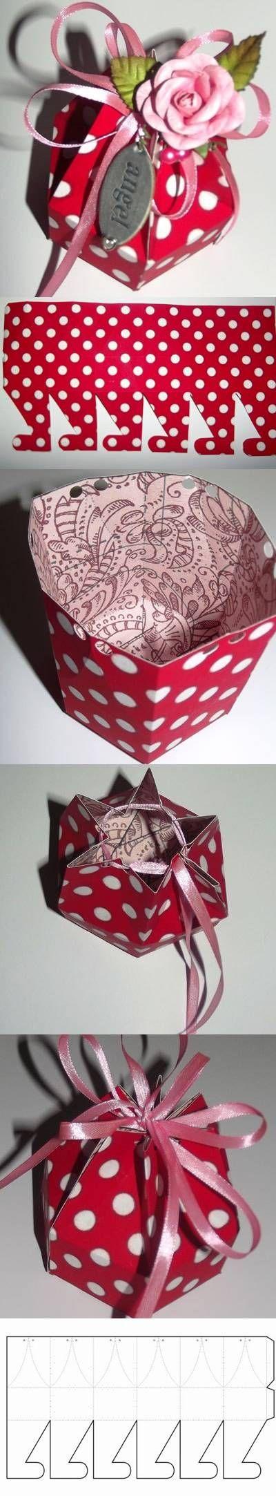 DIY Hexagonal Gift Box with Template