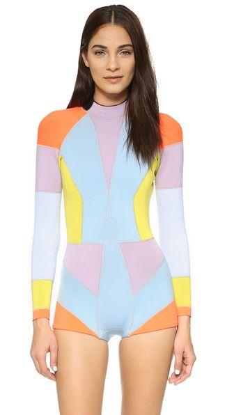 Cynthia Rowley Colorblock Wetsuit | SHOPBOP