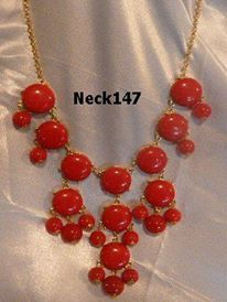 Necklace Red Beaded #neck147