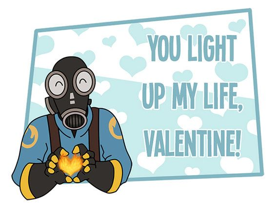 Team Fortress 2 Valentine  You light up my life  by WispyChipmunk, $3.00
