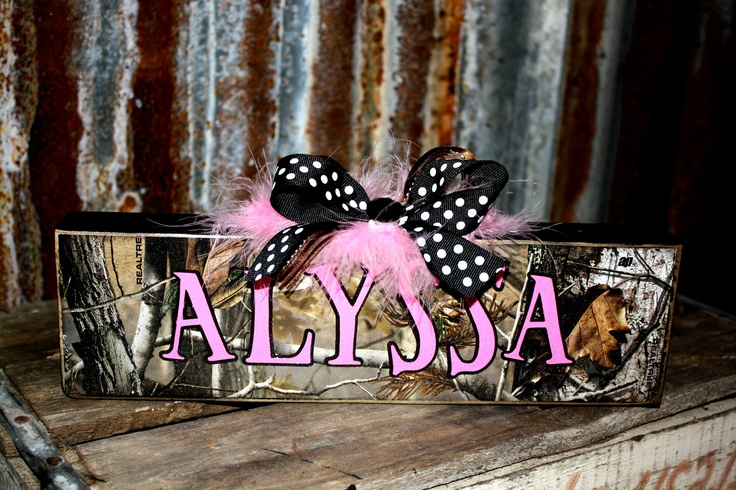 Personalized CAMO Rustic Name Plates Block Home Decorating Office Customized Child's Room Wedding Teacher Baby gift